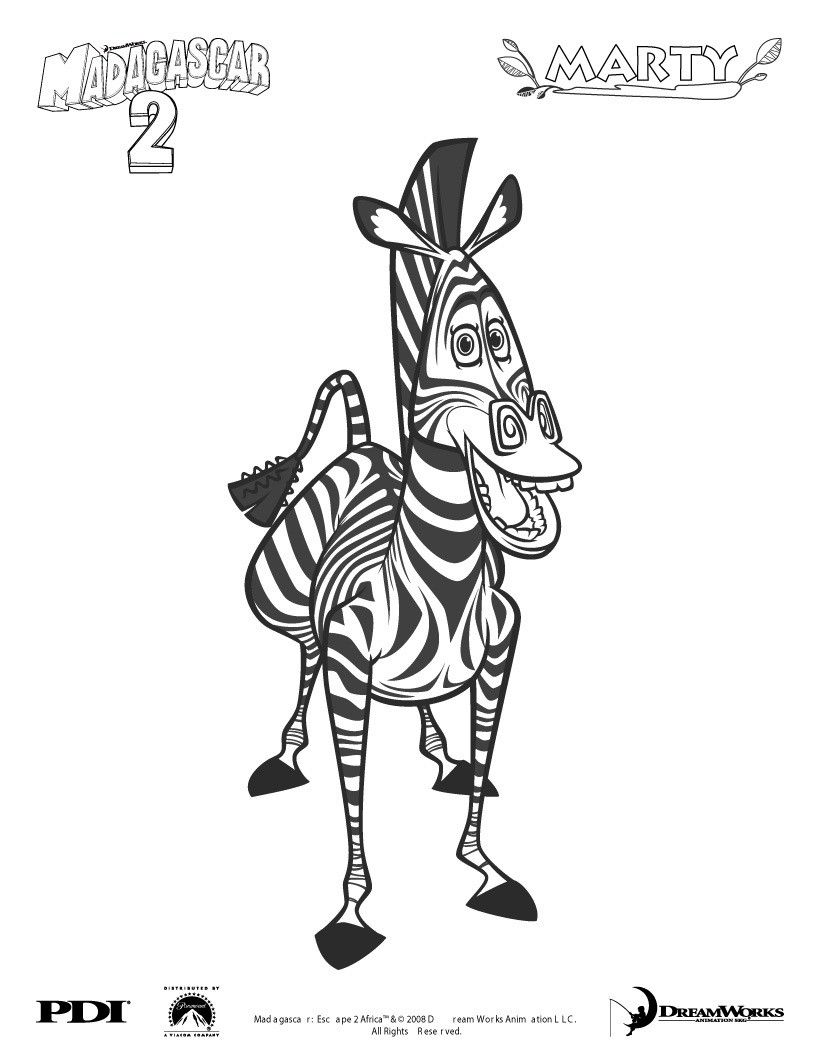 MADAGASCAR coloring pages - Alex the king