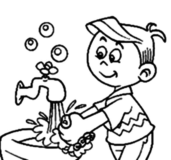 coloring pages hand washing - photo#3