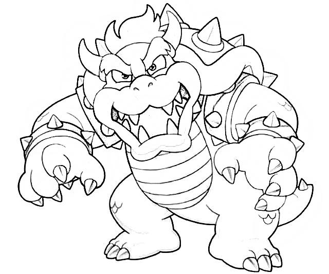 Dry Bowser Coloring Page Coloring Home