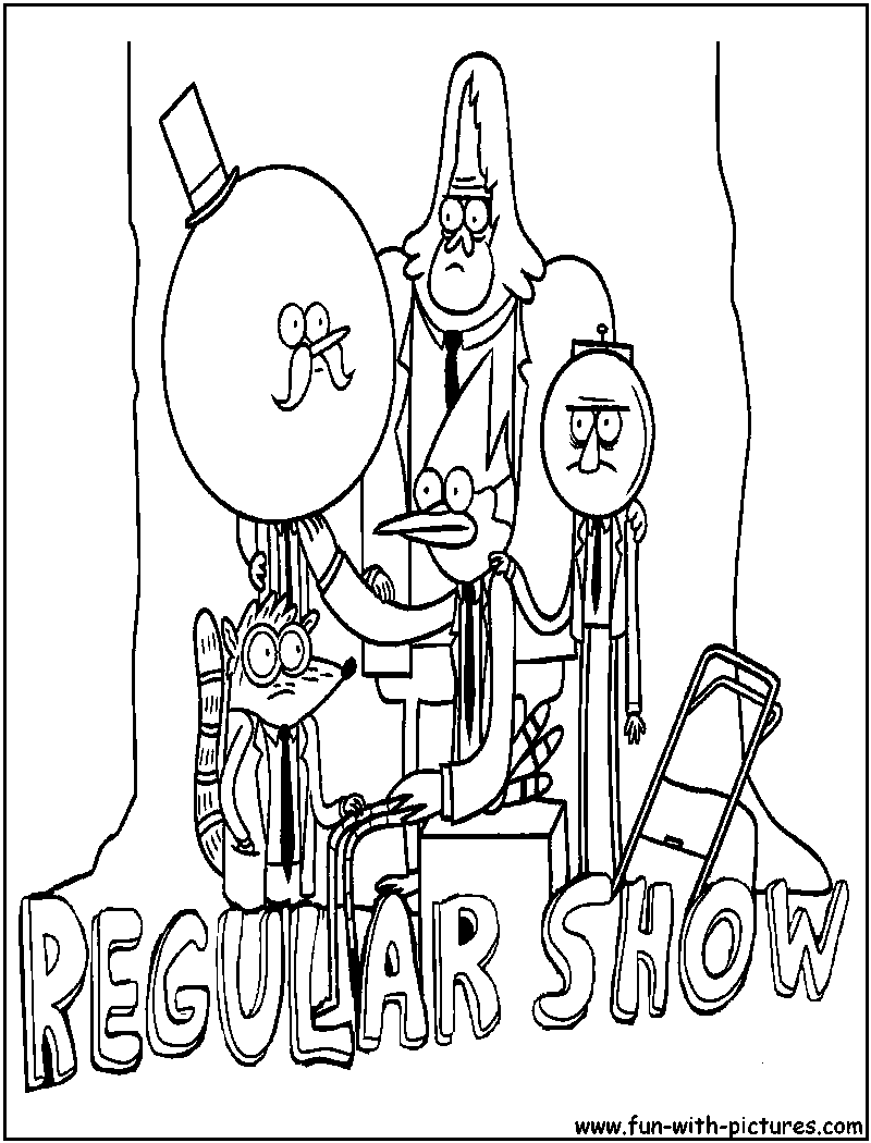 Cartoon network coloring pages regular show coloring home for Cartoon network printable coloring pages
