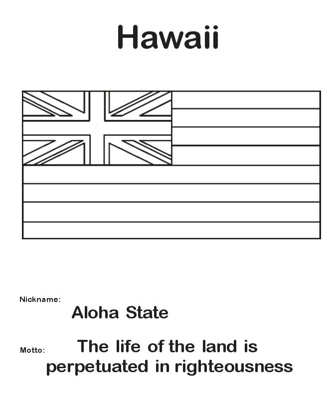 Hawaii State Flag Coloring Page Az Coloring Pages Hawaiian Flag Coloring Page