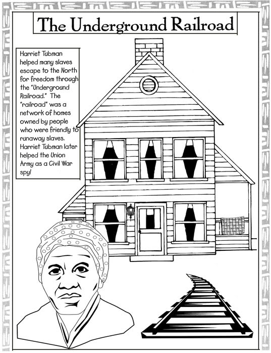 underground railroad coloring pages - photo#4