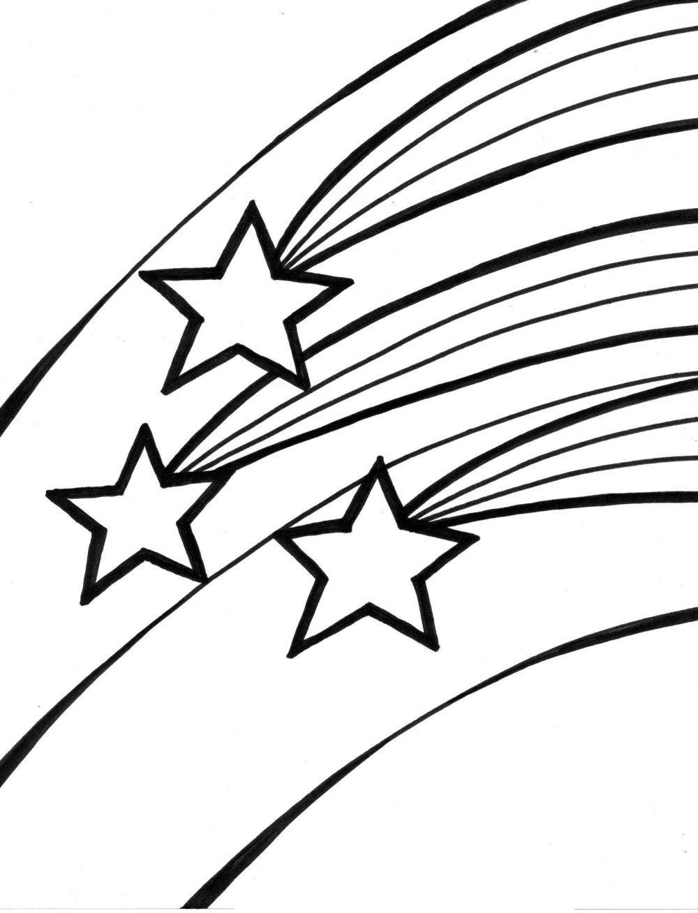 coloring pages shooting star - photo#4