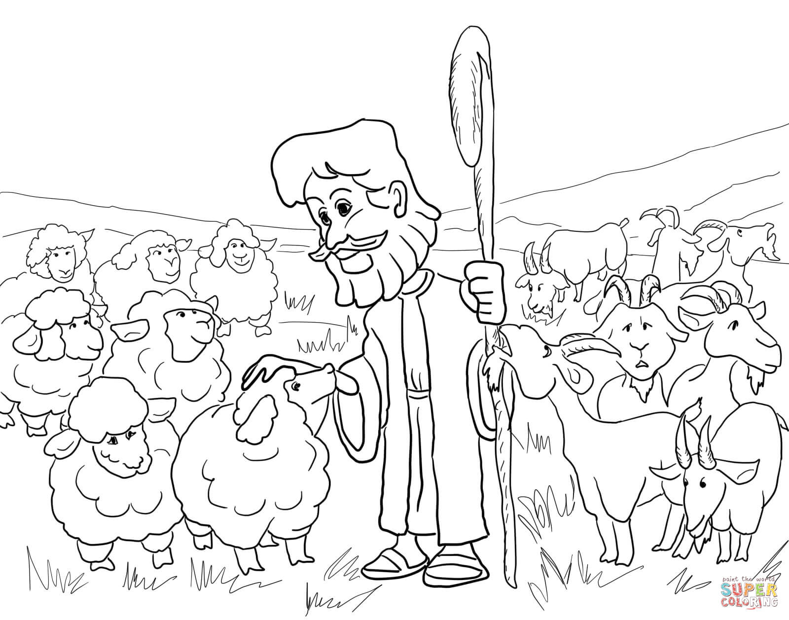 Parable of the Sheep and the Goats coloring page | Free Printable ...