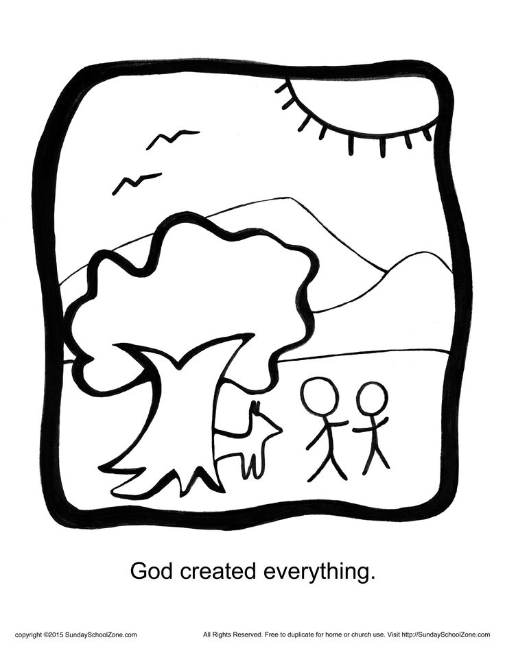 god made coloring pages - photo#24