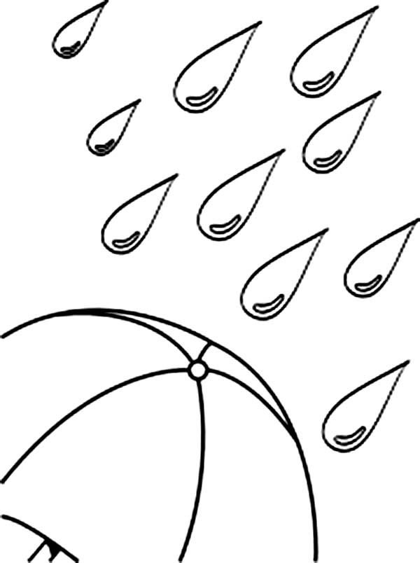 Raindrop Coloring Page Preschool Pages Of Ducks With Umbrellas Home