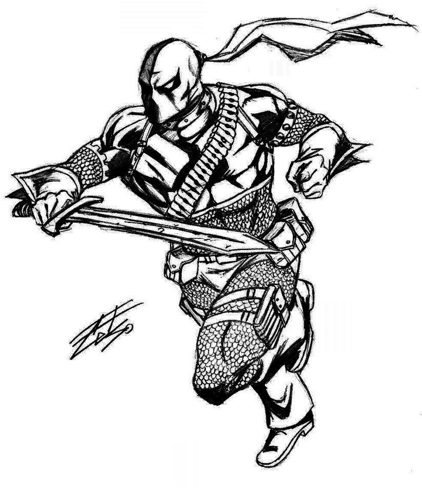 coloring pages of deathstroke injustice - photo#17