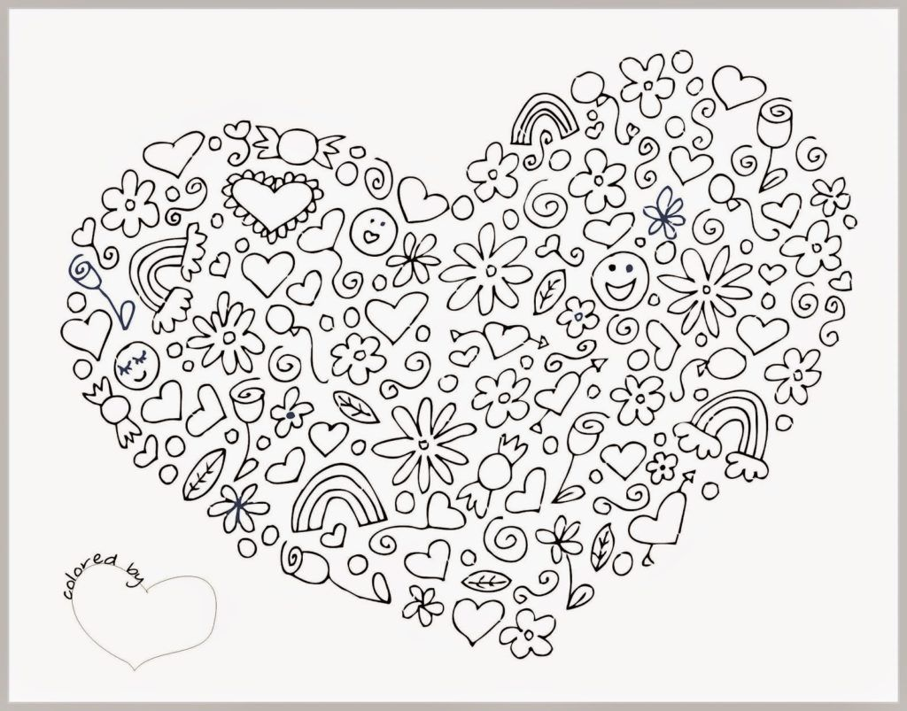 Printable Coloring Pages For Adults Love : Free coloring pages for adults love home