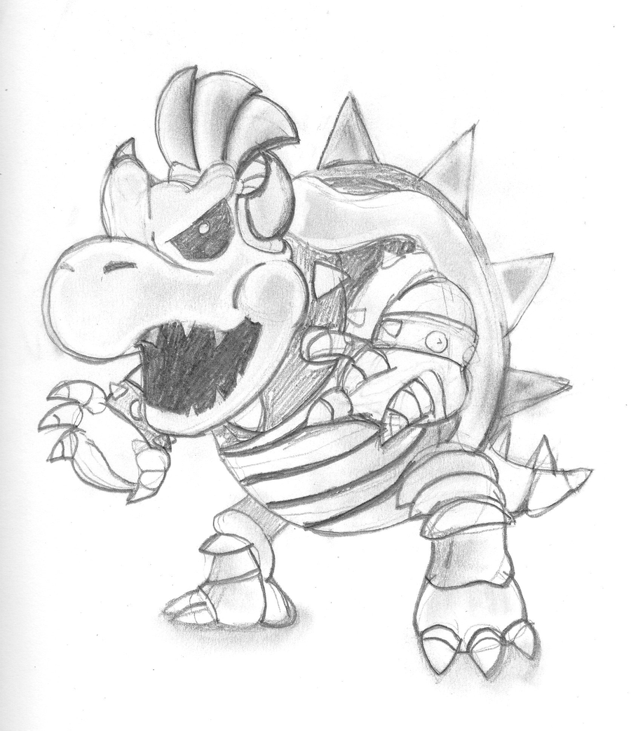 Coloring Pages Dry Bowser Coloring Pages coloring page of bowser junior az pages dry for kids and adults