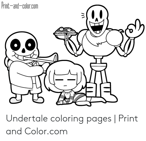 Print-And-Colorcom Undertale Coloring Pages Print And - Coloring Home