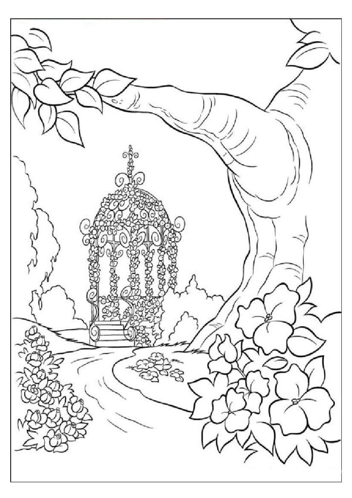 Adult Coloring Page Nature Coloring Pages For Adults To Print