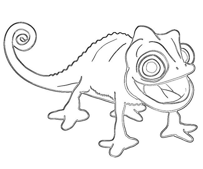 chameleon coloring pages free | Mixed Up Chameleon Coloring Page - Coloring Home