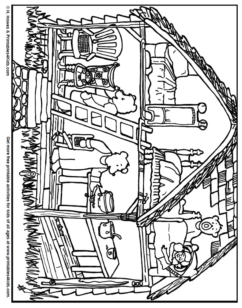 Coloring Pages Three Bears Coloring Pages goldilocks and the three bears coloring pages az great 48 in coloring