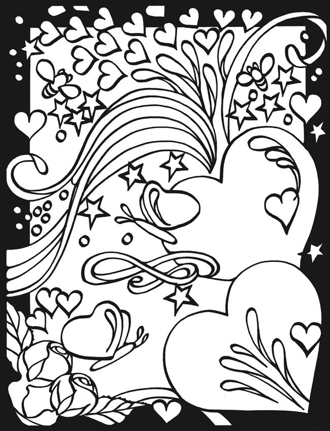 Cool Coloring Pages Of Hearts at GetDrawings.com | Free for ...