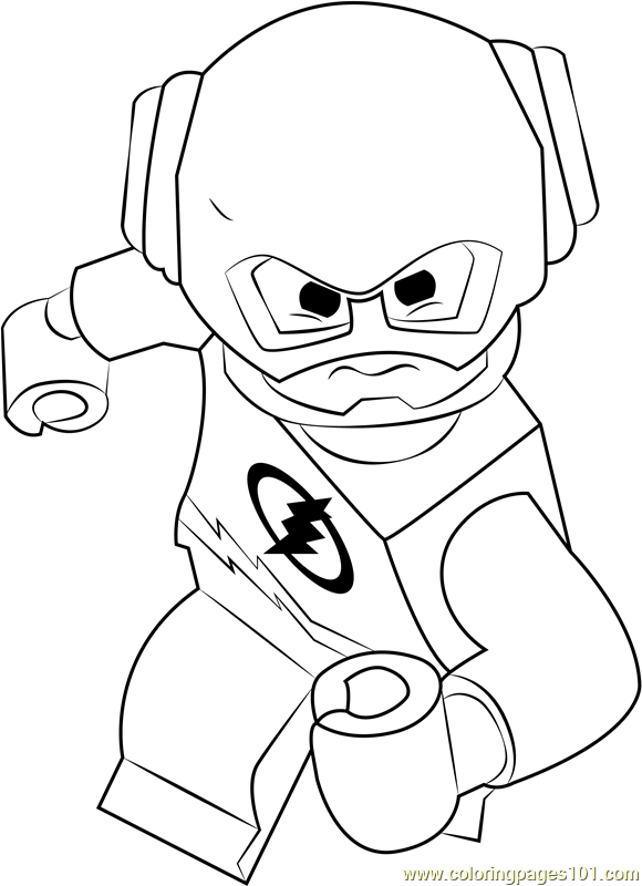 Lego The Flash Coloring Page - Free Lego Coloring Pages ...
