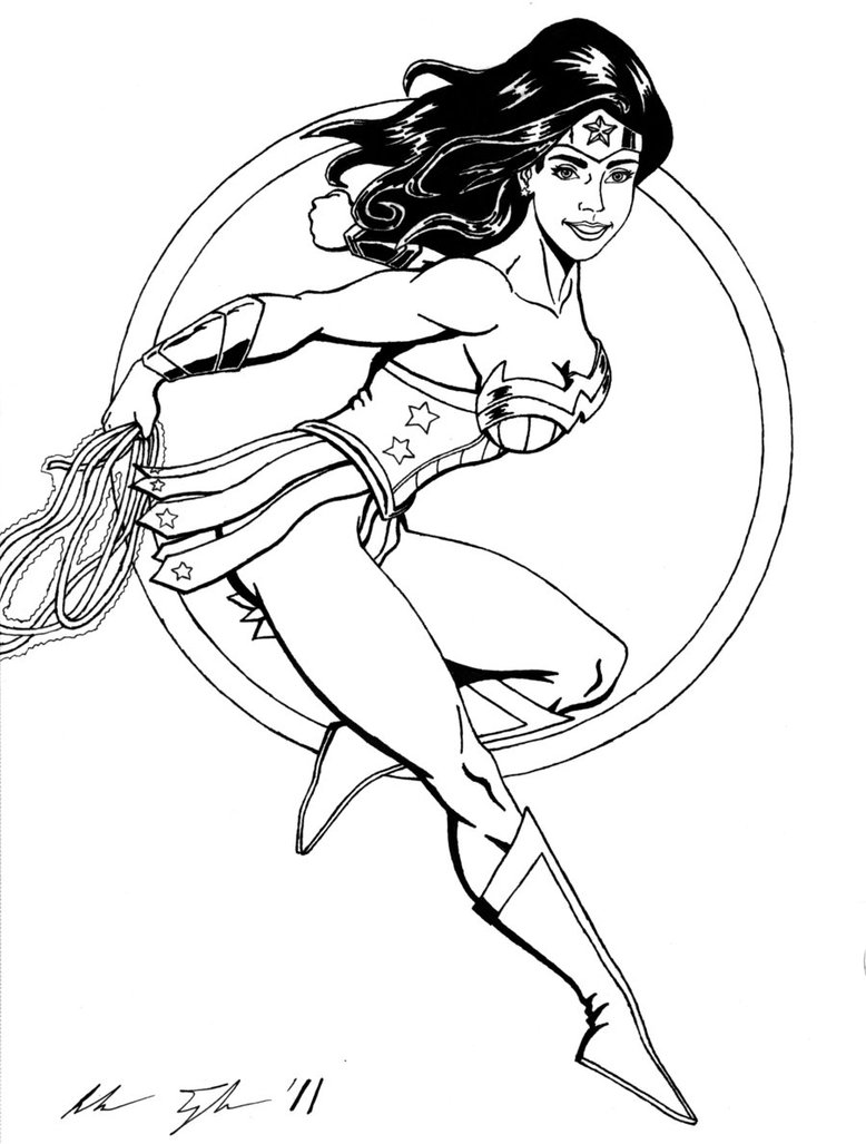 How to draw wonder woman logo coloring home for Wonder woman coloring pages