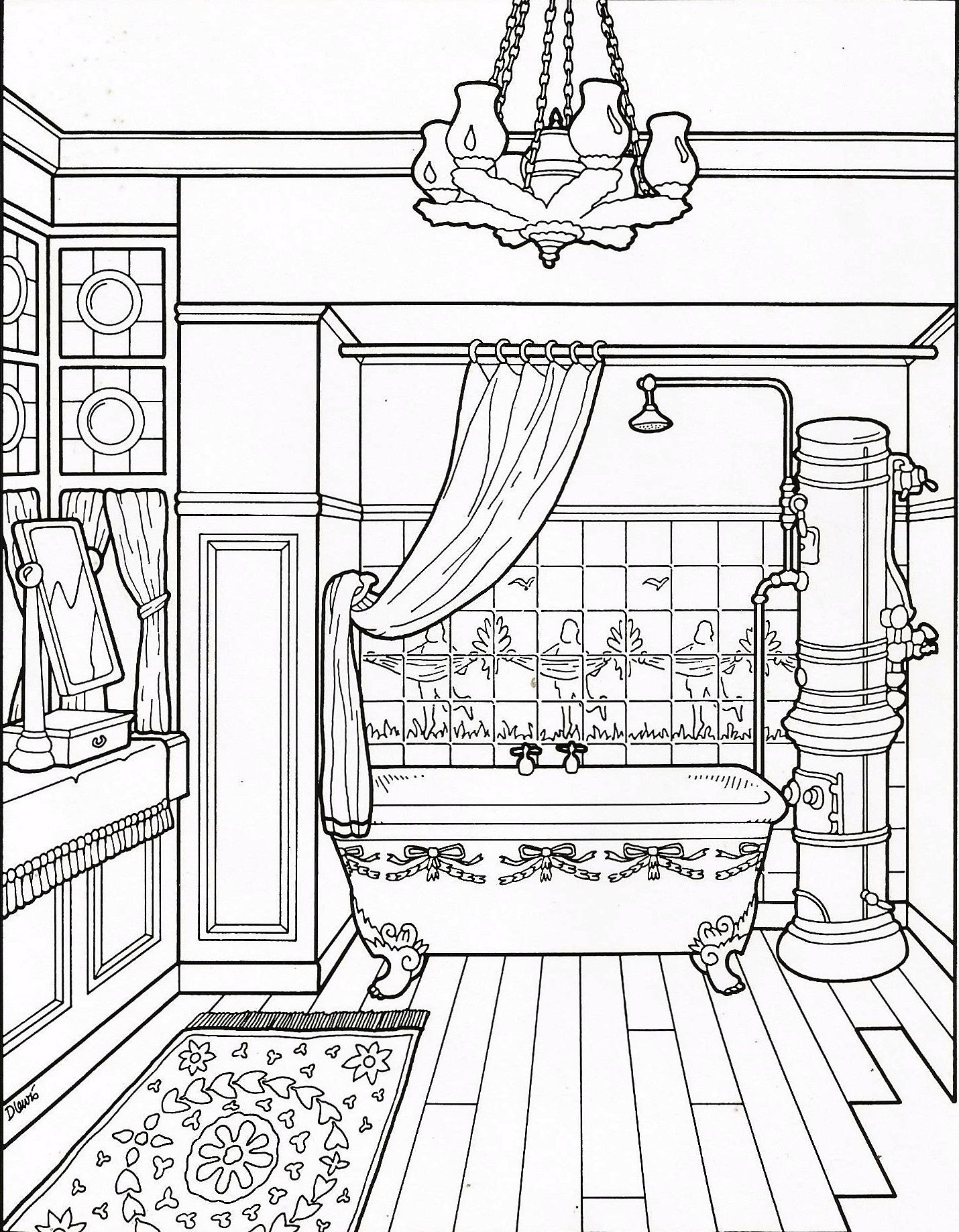 Bathroom Coloring Pages Coloring Home