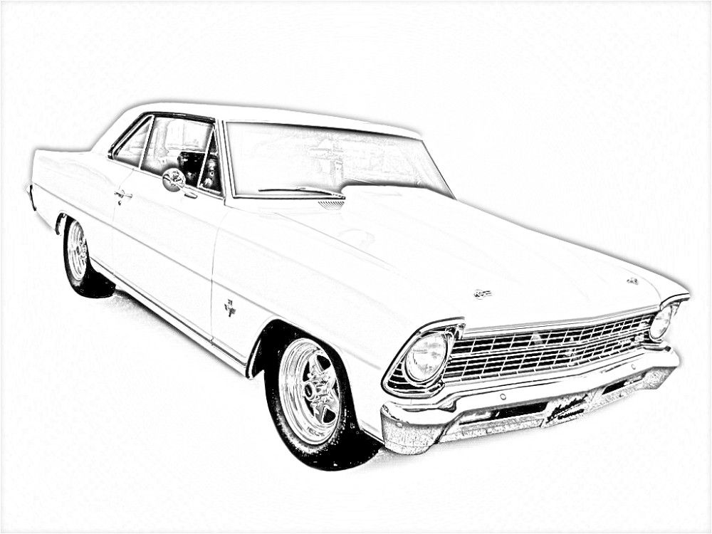 8 Pics Of Chevy Muscle Cars Coloring Pages