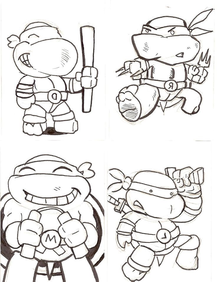 Classic Ninja Turtle Coloring Pages