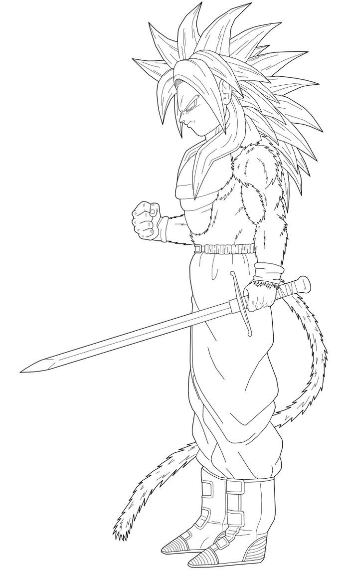 Coloring pages of trunks in dbz az coloring pages for Super saiyan trunks coloring pages