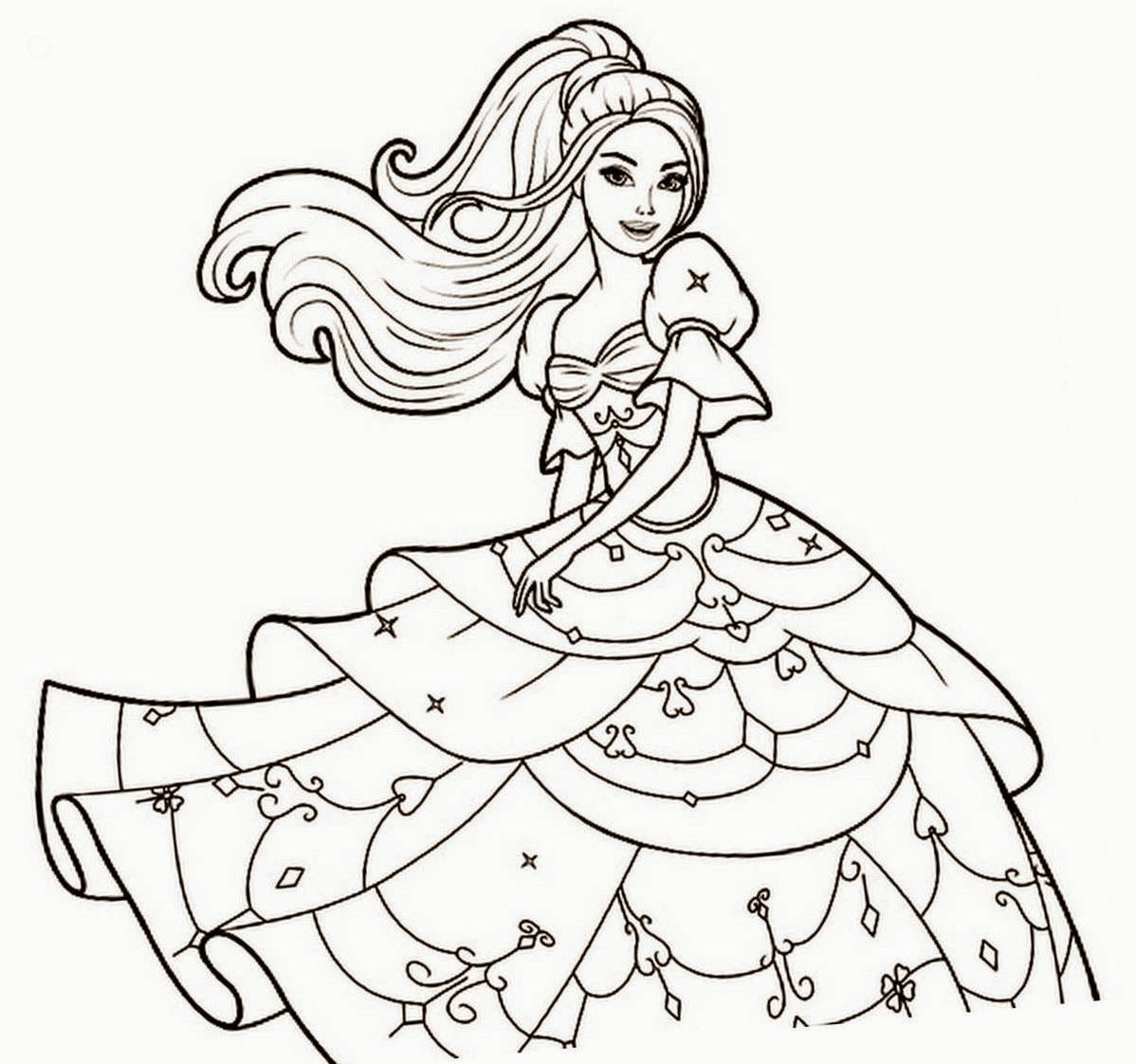 - Cartoon Barbie Coloring Page - Coloring Home
