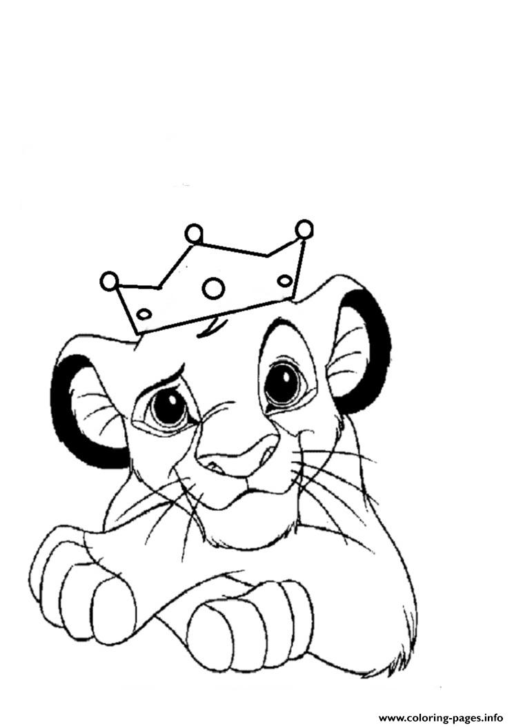 Lion Coloring Pages Pdf : Print little lion king free f coloring pages