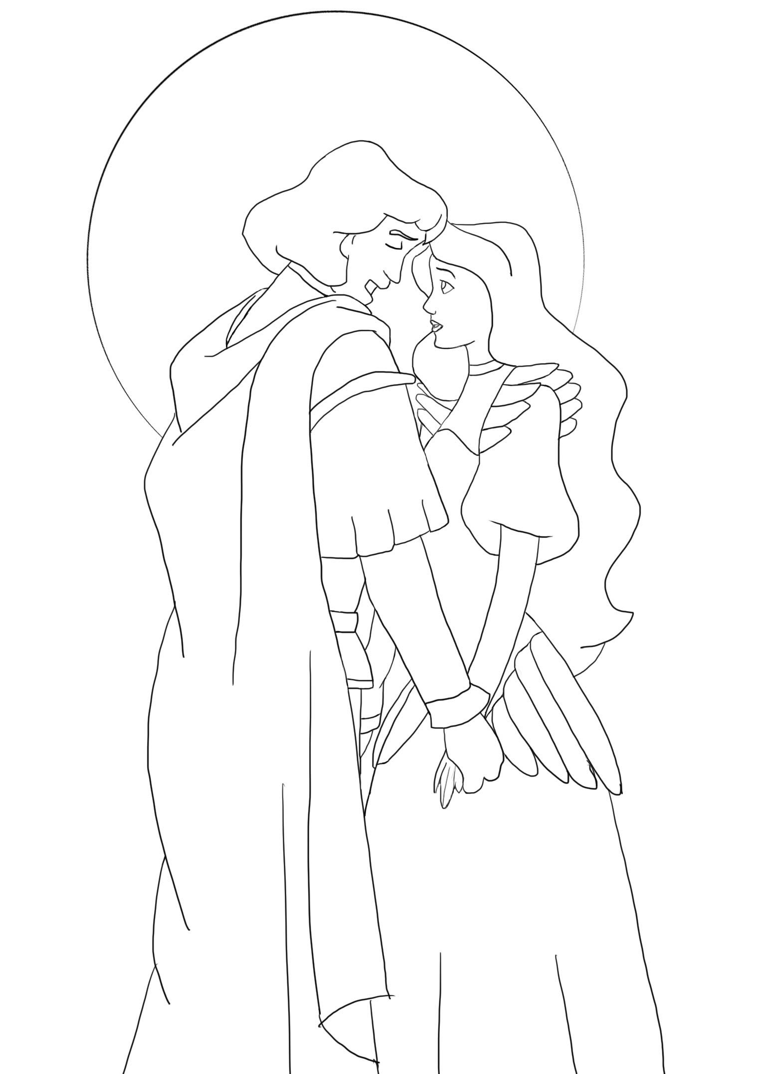 disney swan princess coloring pages - photo#9