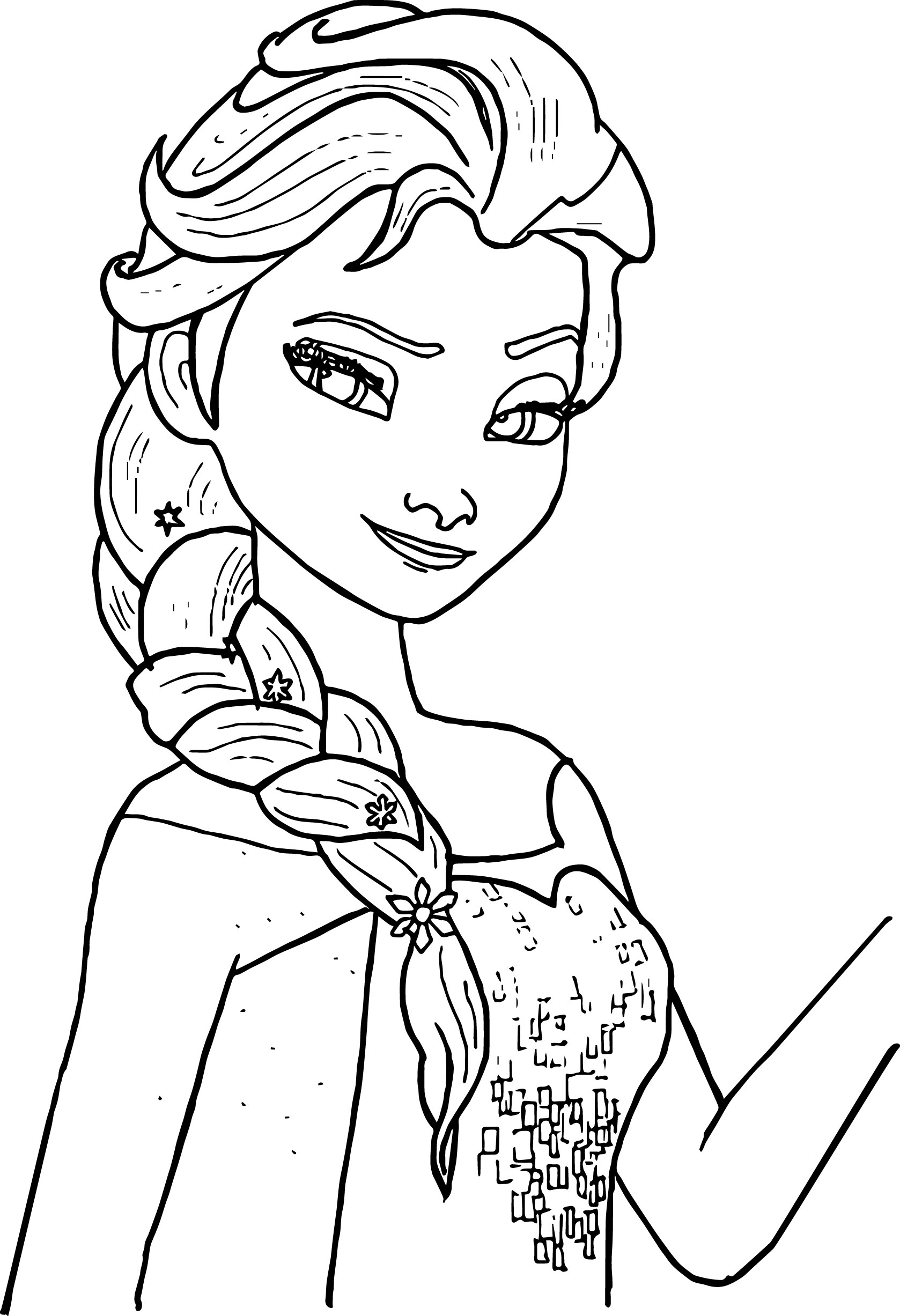 Remarkable Elsa Coloring Pages Free Photo Ideas – Greatestcomicbook
