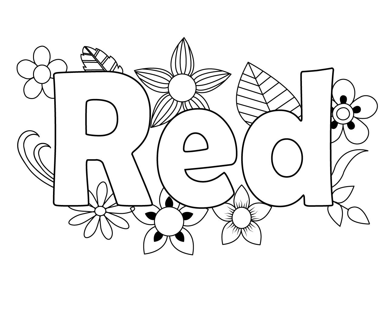 Red Coloring Pages | Preschool coloring pages, Coloring pages, Apple coloring  pages