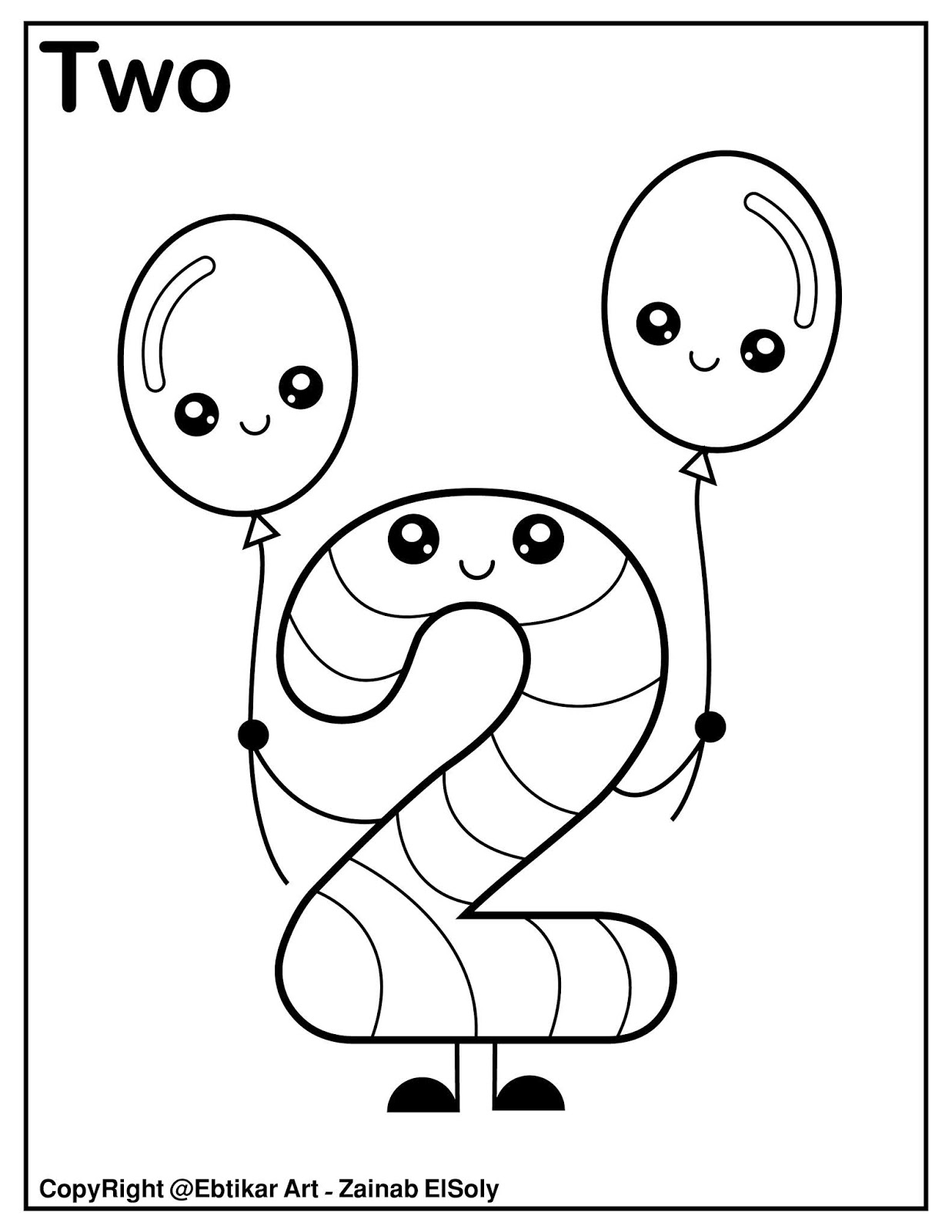 Set of 123 Kawaii Coloring Pages