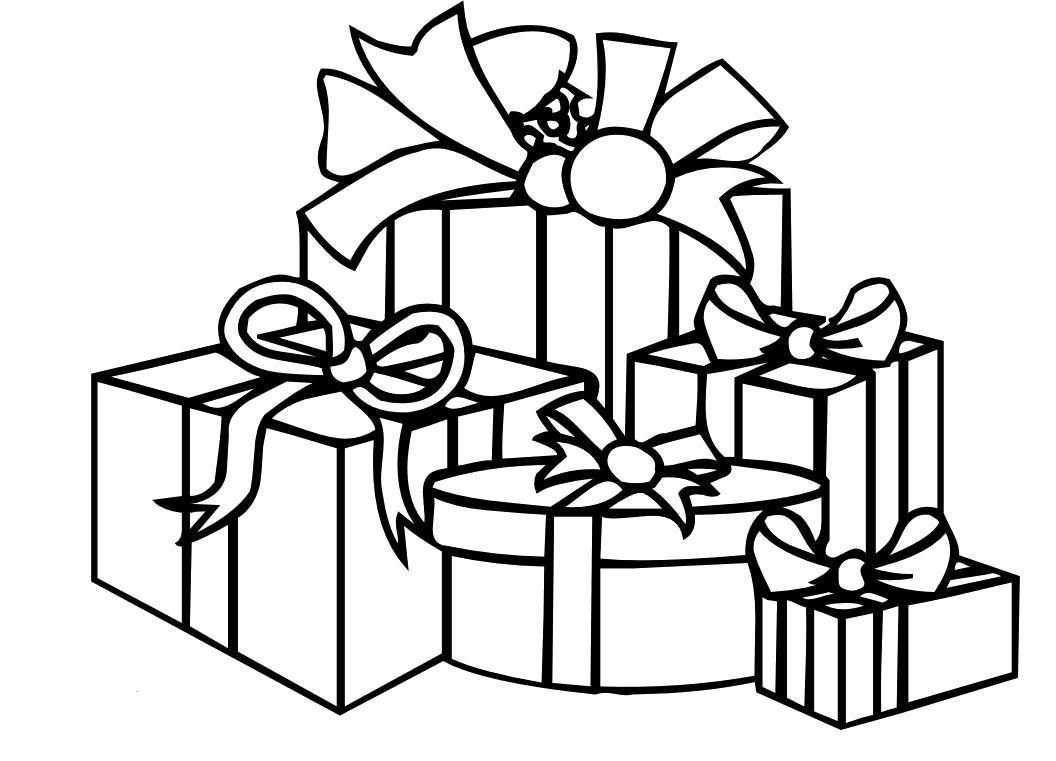 Christmas Present Coloring Pages Christmas Presents Coloring Pages Beepmunk Birijus Com Coloring Home