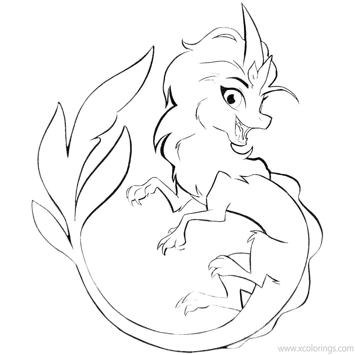 Raya And The Last Dragon Coloring Pages Dragon Sisu - XColorings.com