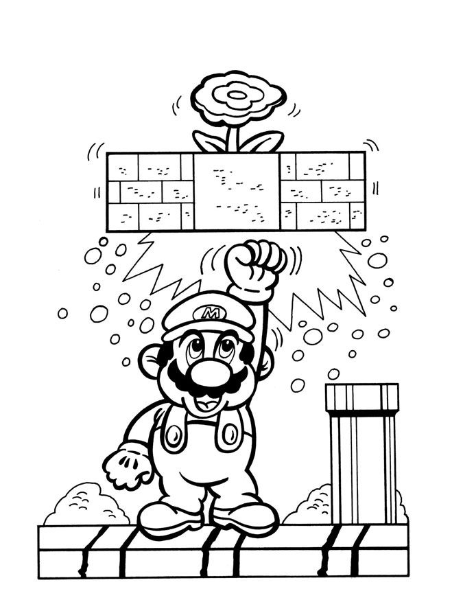 Super Mario Bros. Coloring Pages Coloring Books At Retro Reprints - The  World's Largest C… In 2020 Super Mario Coloring Pages, Mario Coloring  Pages, Cute Coloring Pages - Coloring Home