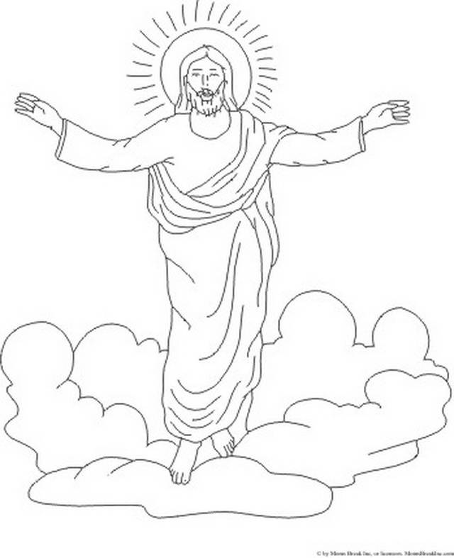 ascension of jesus christ coloring pages family holiday - Coloring Pages Jesus