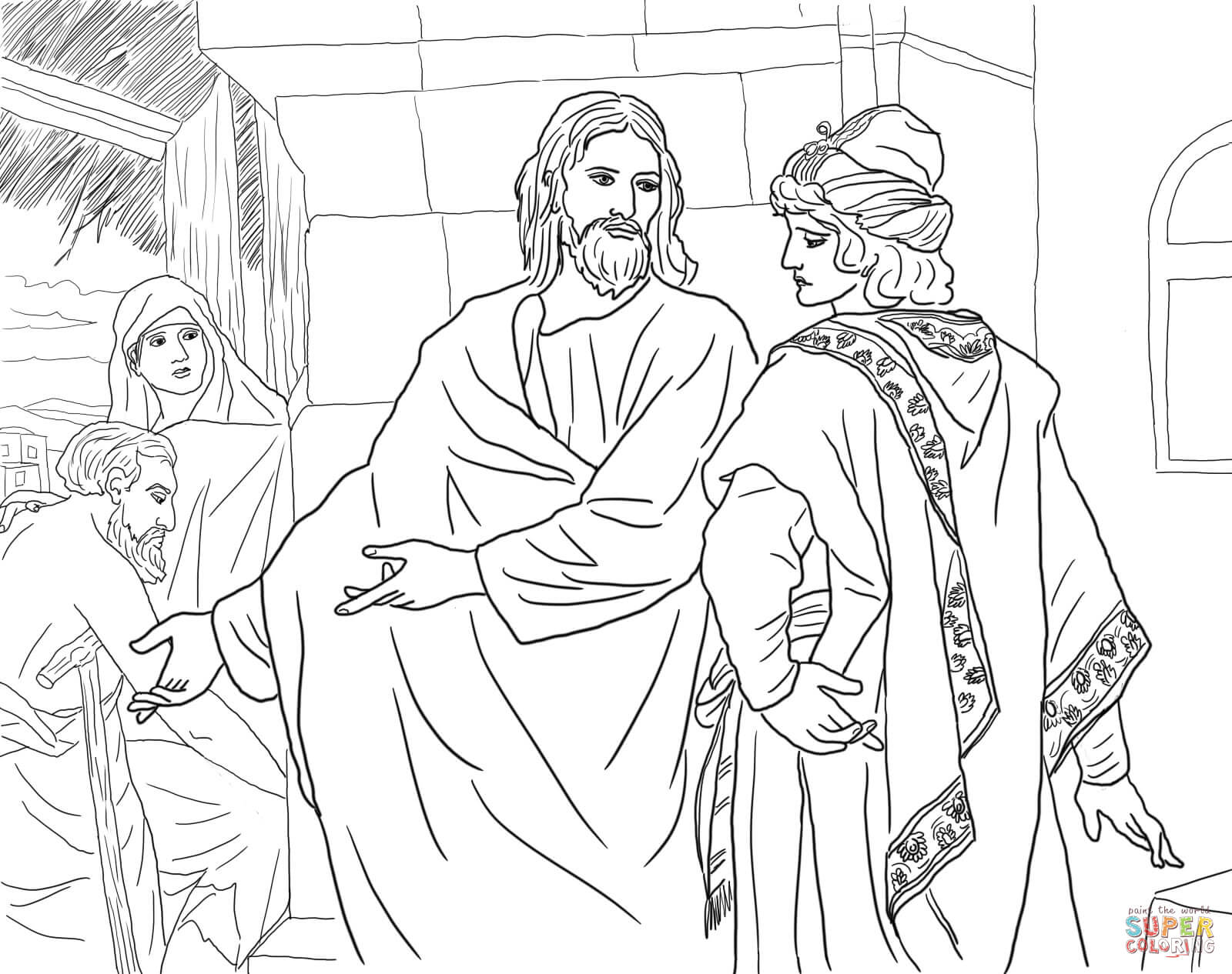 Jesus Mission Period coloring pages | Free Coloring Pages