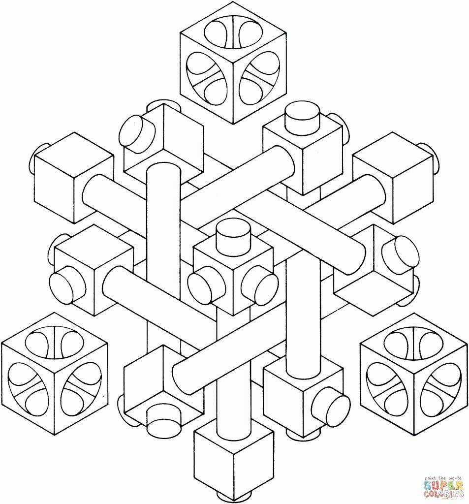 Optical Illusion Coloring Page For Adults