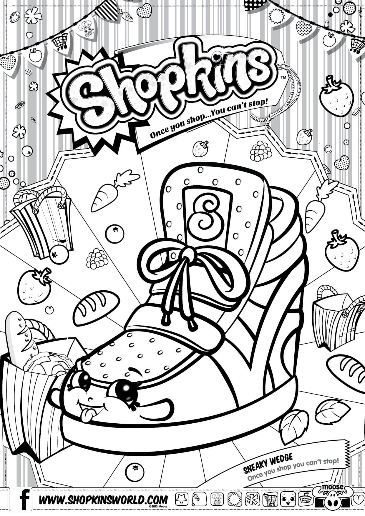 Shopkins Coloring Pages Coloring