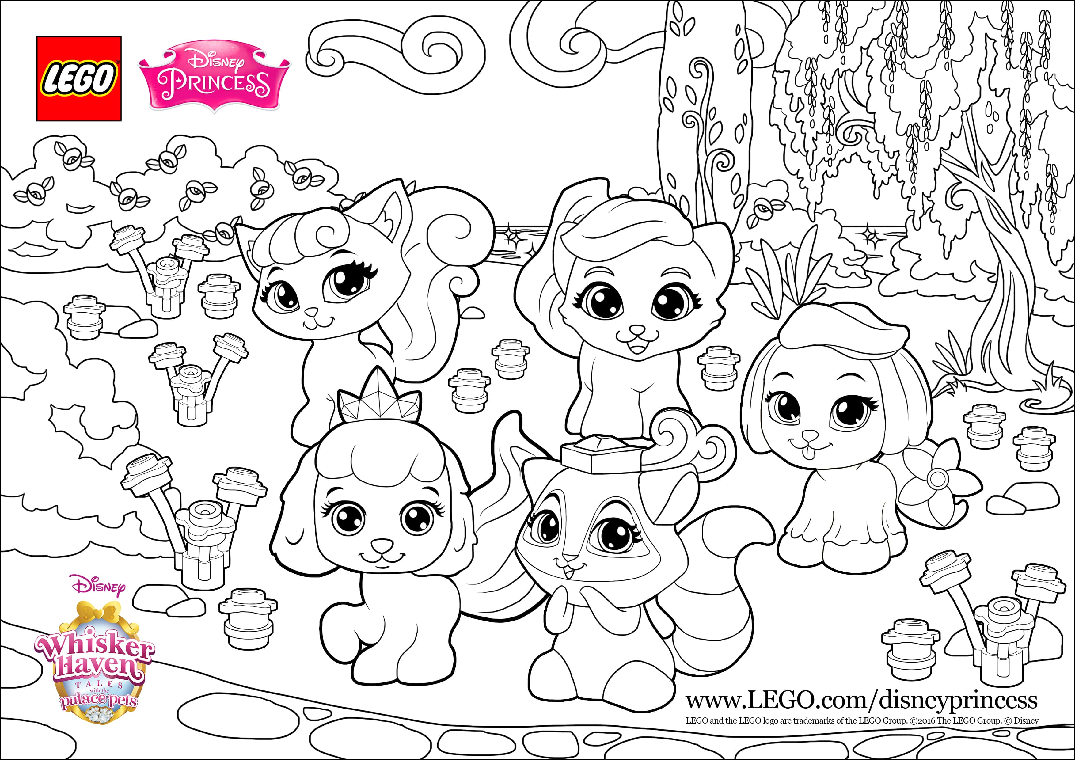 - Create Your Own Party With The Palace Pets - Coloring Page