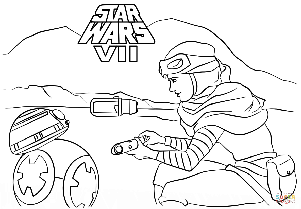 The Force Awakens | Super coloring pages, Star wars activity ... | 824x1186