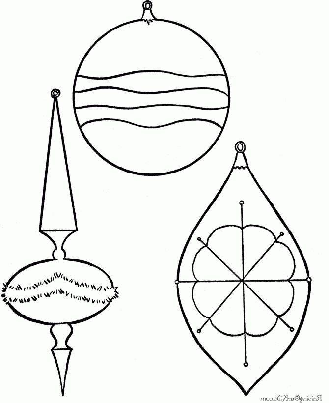 Printable Christmas Ornaments For Kids Coloring Home Ornament Crafts Coloring Pages