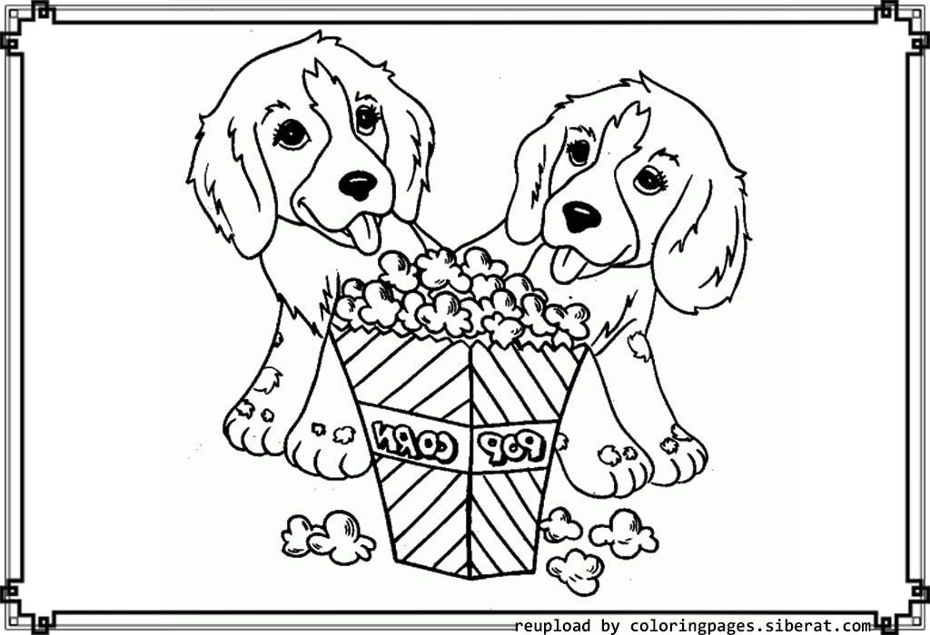 Popcorn Coloring Pages Coloring