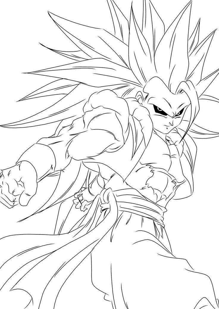 Dragon ball z ss4 coloring pages az coloring pages for Dragon ball z coloring page