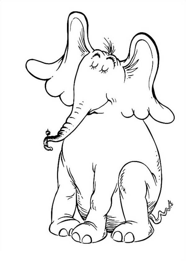 Free coloring pages of dr seuss characters coloring home for Dr seuss coloring pages horton hears a who