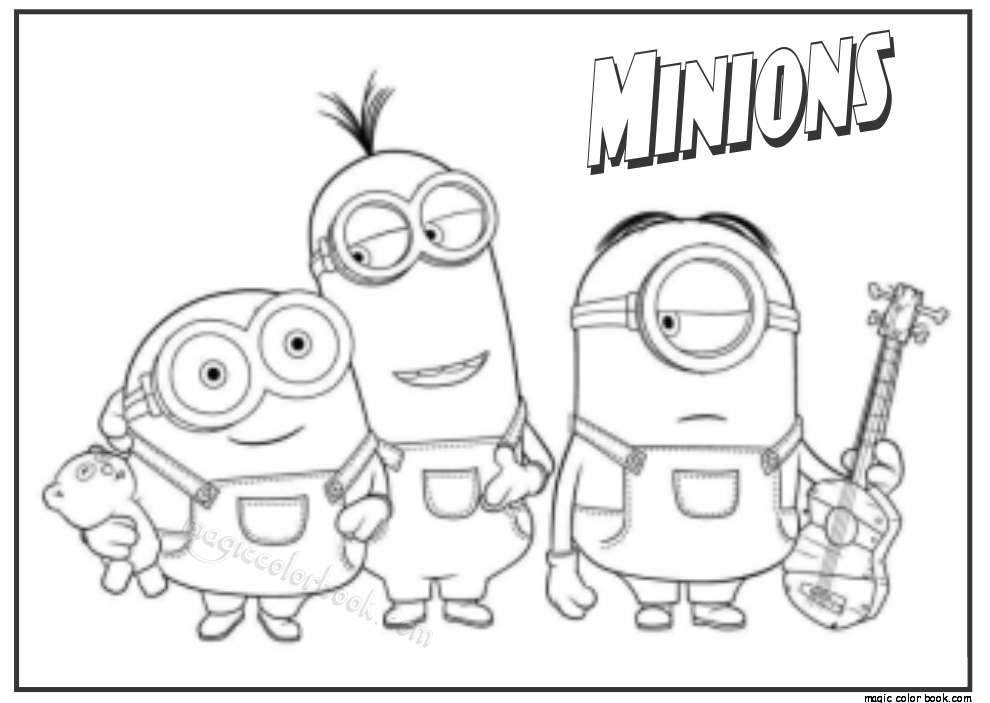Minions free coloring pages for kids