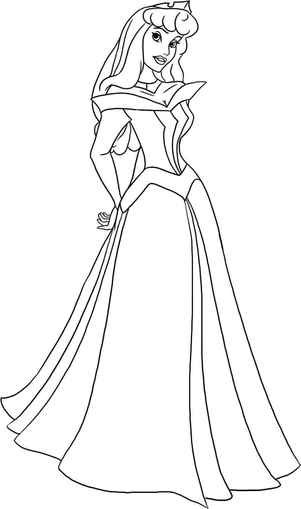 Printable Coloring Pages Of Aurora - Coloring Home