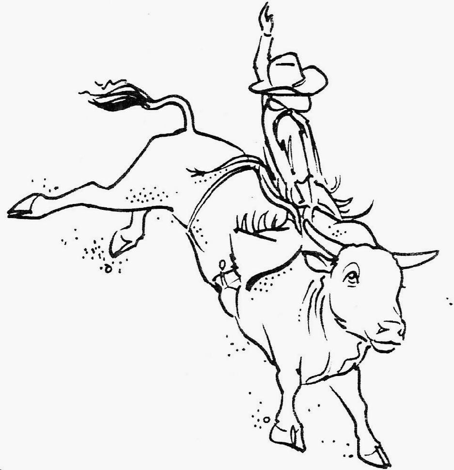 bull ride coloring pages coloring pages for all ages