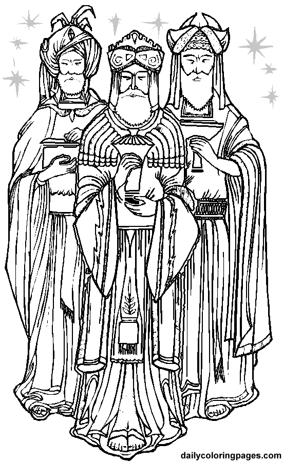 9 Pics Of Three Kings Coloring Page
