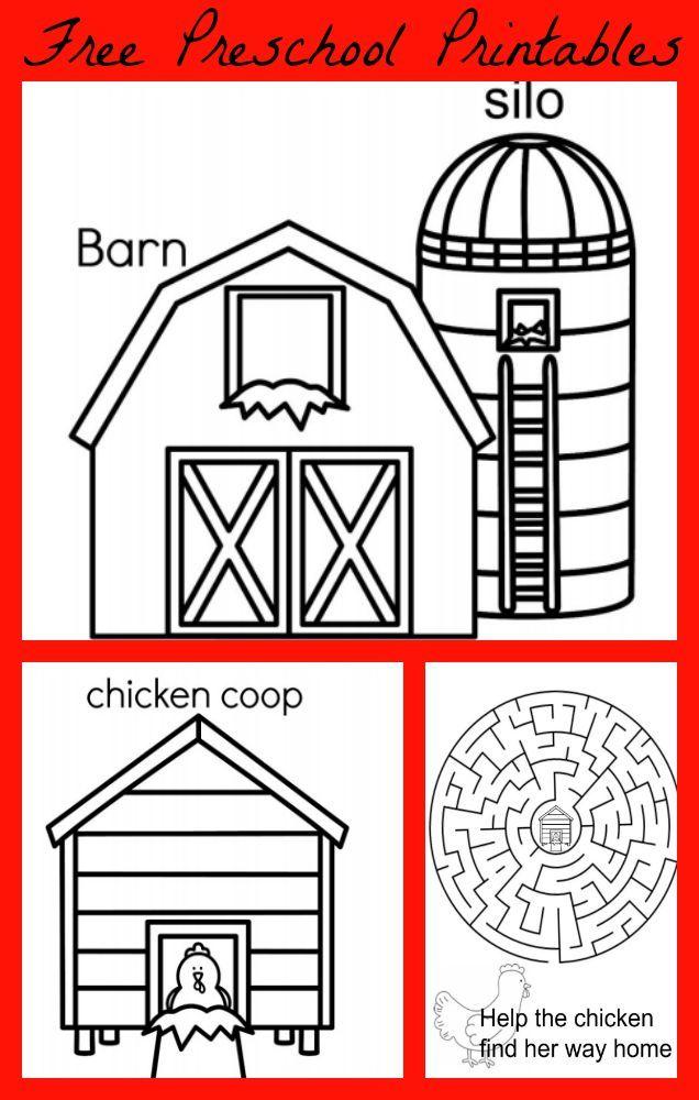 Farm Coloring Pages Preschool