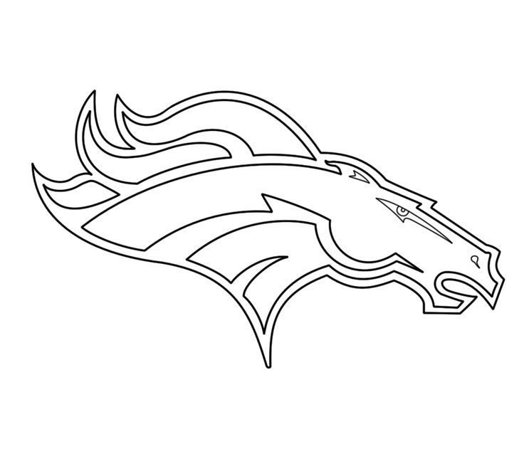 15 Pics Of Bronco Football Logo Coloring Pages