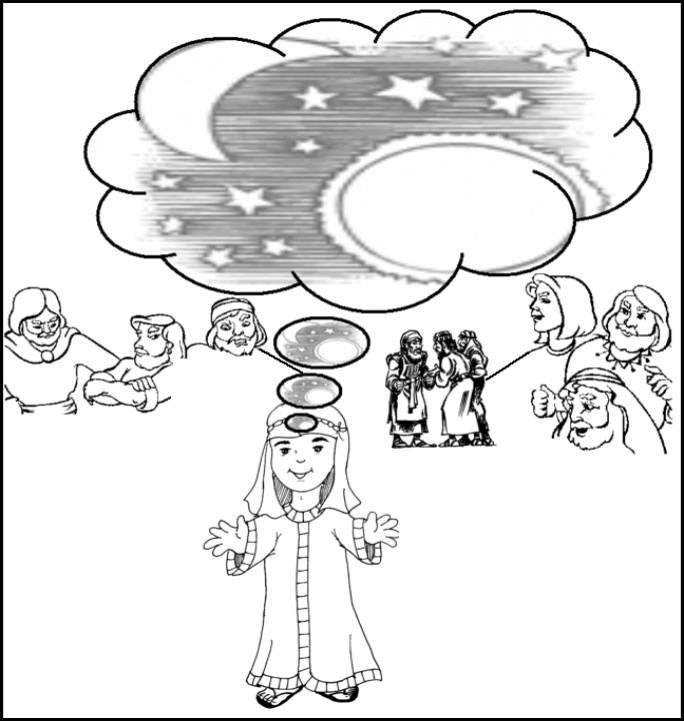 joseph pharaohs dreams coloring pages - photo#17